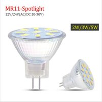 Wholesale Led Mr11 5w - SMD5730 MR11 Led Spotlight GU4 Glass Bulb AC DC10V-30V 9Led 12 leds 15leds Lampada Led Lamp Bulbs Energy Saving