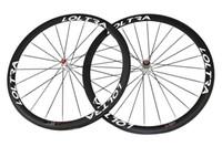 Wholesale Race Hubs - 700C Full Carbon 38 Clincher Road Bike Wheels 25 mm Width Road Bike Wheelset White Hub A271SB Hub Road Bicycle Wheel Racing Wheelset