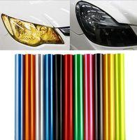 Wholesale Hyundai Fog - Auto Car Headlight Taillight Fog Light Vinyl Smoke Film Sticker Cover Hyundai solaris i30 creta ix35 SonataElantra AzeraTucson Accent