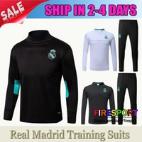 Wholesale Uniforms Jackets - 2017 Adults Real Madrid Training Suits Jacket UCL Champions League 17 18 Tracksuits AAA+ Survetement Maillot de foot N98 shirt Uniform Kit