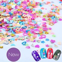 Wholesale Nail Decoration Tools - New Nail Art Decorations Colorful Star Heart Triangle Pentagon Nail Ornaments Mix 5000pcs A Pack DIY Nail Beauty Tools 2017