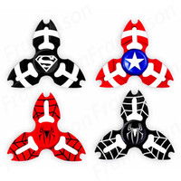 Wholesale Iron Man Plastic - Metal Avengers Fidget Spinner Tri-Spiner Capt America Bat Iron Man Super Hero Zinc Alloy Spiderman EDS Metal Spinners Toys
