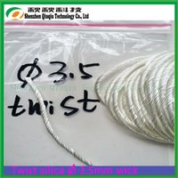 Wholesale Quick Wicks - Wholesale- electronic cigarettece4 Over 96% SiO2 Quick Oil absorption Vaporizer Ekowool 3.5mmTwisted silica wick rope