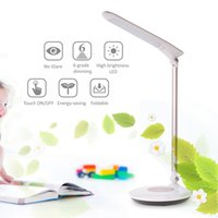 Wholesale Sensitive Switch - Tomshine Foldable Dimmable Touch Sensitive Control LED Desk Lamp 5.5W 300LM 6 Levels Stepless Adjustable Brightness with Power Adapter L1342