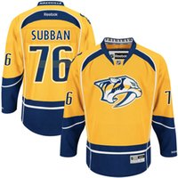 Wholesale Hockey Jerseys Home - cheap Men's Nashville Predators hockey jerseys PK Subban 100% stitched White Gold Home Remier Player Jersey fast shipping