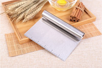 Wholesale Wholesale For Kitchenware - 2 8zr Stainless Steel Scraper Trapezoid Baking Utensils Erasing Knife For Cream Cake Chocolate Scrapers Knives Classic Kitchenware Durable