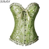 Wholesale Woven Trim - NEW Best Quality Bustier Corset Sexy Top Burlesque Boned Floral Corsets Body Shaper Slimming Waist Trimmer Trainer Black
