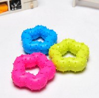 Wholesale Wholesale Cat Shape Goods - Five-point Star Shape Pet Toy Cat Dog Chew Teethers Elastic Rubber For Cleaning Teeth Mini Rubber Chew Good Quality For Small Pets 10PCS