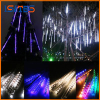 Wholesale Christmas Tree Star Decoration - 20CM 30CM 50CM Meteor Shower Rain Tubes LED Mini Meteor Lights LED Strings Light 8pcs LED Light Christmas Light Wedding Garden Decoration