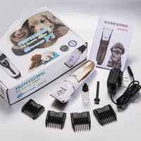 Wholesale home dogs - Pet Dog Hair Trimmer Animal Grooming Clippers Cat Cutters Electric Low-noise Animal Pet Dog Cat Hair Razor Grooming Clipper Shaver Trimmer