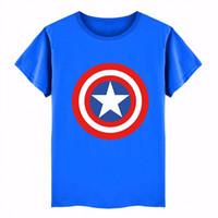 Wholesale canvas brand t shirts - 2017 Cotton Boys T-shirts Captain America Short Children t shirt For 2~6 Y Boy Cartoon Tops Tees Summer Kids Clothes