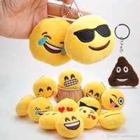 Compra Decorazione Gialla-Emoji Smiley Peluche Toy Doll Emotion Giallo Soft Cuscino Portachiavi Portachiavi Decori