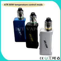 Wholesale Newest Ecig Products - newest product e cig box mod ATR 80W temperature control ecig mods with OLED screen free dhl shipping--03