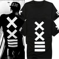 hba t shirt toptan satış-Mens t shirt moda hba Hip Hop tişörtlü erkek metallica kaya tee gömlek bandana tişörtlü Baskı Grafik swag T-Shirt erkekler için