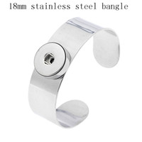 Wholesale Stainless Steel Ginger MM Snap Buttons Bangle Wide Bracelet Fashion High Quality Noosa Chunks Men Jewelry