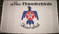 US Thunderbirds Flagge 90 x 150 cm Polyester USA Luftwaffe US Army USAF Elite Display Team Banner