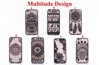 Wholesale Pink Lace Iphone Case - Fashion Sexy Lace Floral Paisley Flower Mandala Henna Clear Case For iphone 6 6S 7 6s 7 Plus Phone Cases Cartoon Capa Back Cover free