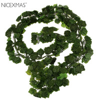 Wholesale artificial leaf for decoration for sale - Group buy 12pcs ft Artificial Ivy Leaf Garland Plants Vine Fake Foliage Flowers For Home Garden Wedding Decoration Rattan Leaf Vine