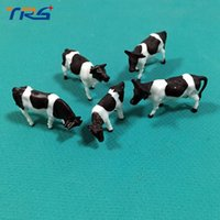 Wholesale Ho Scale Animals - Wholesale- 30pcs HO Scale painted Farm Animals Scale Model Cows for Model Railway NEW
