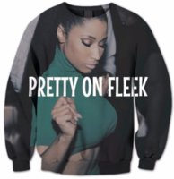 Wholesale funny standards - New Fashion Women Men Nicki Minaj Pretty on Fleek Harauku Style Funny 3d Printed Crewneck Sweatshirts Hoodies K06