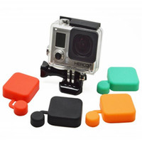 Wholesale Gopro Rubber - For Gopro Accessories For Gopro Hero 3+ Housing Case Soft Siliconce Rubber Lens Cap Cover For Gopro Hero 3+ 3 Plus GP132