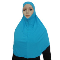 Wholesale Amira Scarf - Wholesale- Women Shawl Wrap Two Piece Muslim Amira Islamic Head Scarf Hijab