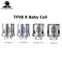 Wholesale Fast Core - Authentic SMOK TFV8 X Baby Coil Head Q2 M2 X4 T6 Replacement Core for TFV8 X-Baby Tank Fast Shipping DHL 2218091