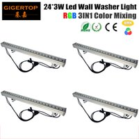 Luz de la etapa de TIPTOP 4XLOT IP65 Iluminación china llevó la luz linear de la arandela de la pared de RGB 1 metro Long 24x3W Tianxin Lamp Decorative Light