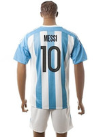 Wholesale Cheap Argentina Football Jerseys - Thai Quality Customized Argentina 2018 #10 MESSI Away Soccer Jersey,17-18 new Season Soccer Wears jerseys Cheap Fashion Football Shirts Tops