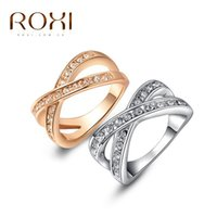 Wholesale ROXI Ring For Women Christmas Gift Good Quality Make With Genuine Crystal Fashion Ring For Women Weeding Gift Party Body Jewelry