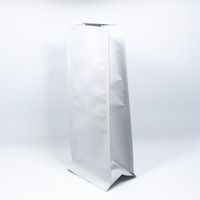 11 * 27cm 15Pcs / Lote Stand Up Open Top Matte Pure Aluminum Folha Oragan sacos com válvula de evacuação de ar Vacuum Seal Food Package Bag