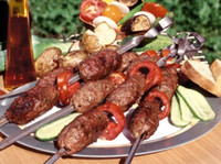 Portatile Picnic BBQ Barbecue Ago 35 cm Camping In Acciaio Inox Grigliate Party Kabob Kebab piatto agnello Spiedini forchette WN091