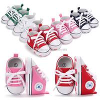 Wholesale Newborn Bottoms - New Baby First Walkers cotton Soft bottom Shoes Newborn First Walkers C3002
