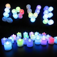 Compra Candele A Distanza-Candele operate a batterie Lampade decorative a LED a distanza per illuminare il serbatoio di vaso / Wedding / Centerpiece / Halloween / Party Lights