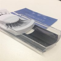 Wholesale Plastic Custom Labels - Custom label real 3d mink eyelashes so fashionable lashes natural color make up tools fast free shipping