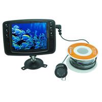 câmera de monitor de pesca subaquática venda por atacado-30 M Underwater Camera de Pesca 8 IR LED CCTV Câmera Com Monitor de Cor 3.5 inch Color Fish Finder Night Vision