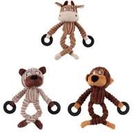 Wholesale Dog Toys Bite - Corduroy Dog Chew Sound Toys Solid Resistance To Bite Playable High Quality Funny Pet Toy Monkey Bear Pet Supplies Wholesale 0704096