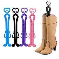 Wholesale Shaper Hangers - Plastic Shoe Expanders Long Boots Shaper Stretcher Heart Trees Supporter Shaft Keeper Holder Organizer Storage Hanger YYA279