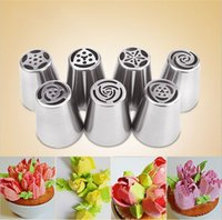 Dessert Decorators Fda Stainless Steel Cutters Professional Cake Decorators Russian Pastry Nozzles Piping Tips