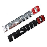 Wholesale Nismo Sticker Accessories - 3M Car Styling Metal Nismo Emblem Car Sticker 3D Decals Creative Mark Badge Auto Stickers Accessories