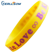 Wholesale Wholesale Wristbands For Events - 200PCS Lot Customized Screen printing 1 color Personalized Centense Rubber Wristbands For Events Y061502