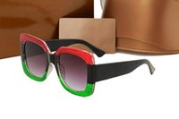 Wholesale Waterproof Uv - 0083 Brand Designer 0083S Square Summer Style Women Sunglasses Ladies Full Frame Sunglasses UV Protection Fahion Mixed Color Come With Box