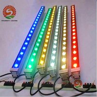 Wholesale Led Wall Washer Light Bars - Outdoor lighting led flood light 12W 18W LED wall washer lamp staining light bar light AC85-265V RGB for many colors