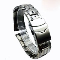 Wholesale Hid Number - Hot sale Stainless steel hollow watch band seven Pearl-clad steel watch band with double security clasp number size 20 22 24 mm silver color