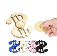 black symbols - US Dollars Symbol Hand Spinner colors Triangle Alloy Fingertips Spiral Fingers Gyro Torq bar Fidget Spinner Decompression Toys