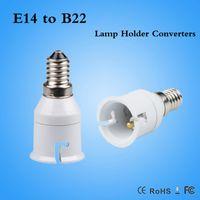 Wholesale Socket Light Convertor - Brand New Small Screw E14 To B22 LED CFL Light Bulb Adapter Light Lamp Convertor Holder Socket White Wonderful Gift