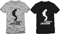 Wholesale Michael Jackson Tshirt Man - free shipping Tshirt For size s--3xl neutral Michael Jackson tshirt,Men   Women T-shirt dance t shirt 100% cotton 6 color