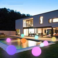 schwimmende pool lichter bälle großhandel-Mehrfarben-LED-Ball-Licht, AGPtek RGB-Farben, die wasserdichtes Stimmungs-Licht für Garten-Dekoration / Pool / Teich / Party schwimmen