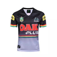 Wholesale Black Jaguars - NEW Zealand 2016 2017 Jaguar Panthers Rugby Black 2016 2017 Top HOME America BLK BLUE RWC NRL Super RUGBY home and away rugby jerseys Shirts