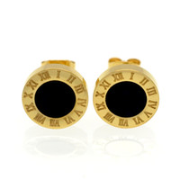 2017 Gold / Rose / Silver Color Stud Earrings Moda Famous Brand Jewelry Wedding Party Brincos Para Mulheres Lady Men Earrings Gift